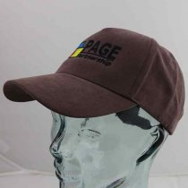 Heavy polyester suede baseball cap